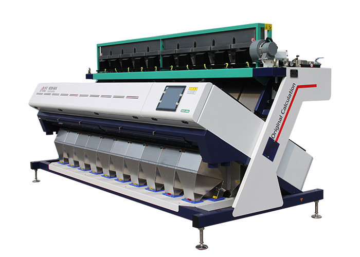 10 Chute Grain Color Sorter Machine 5400Pixel CCD Image Acquisition System