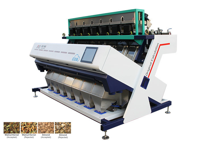 High Resolution Cashew Sorting Machine , 220V 50HZ Groundnut Sortex Machine